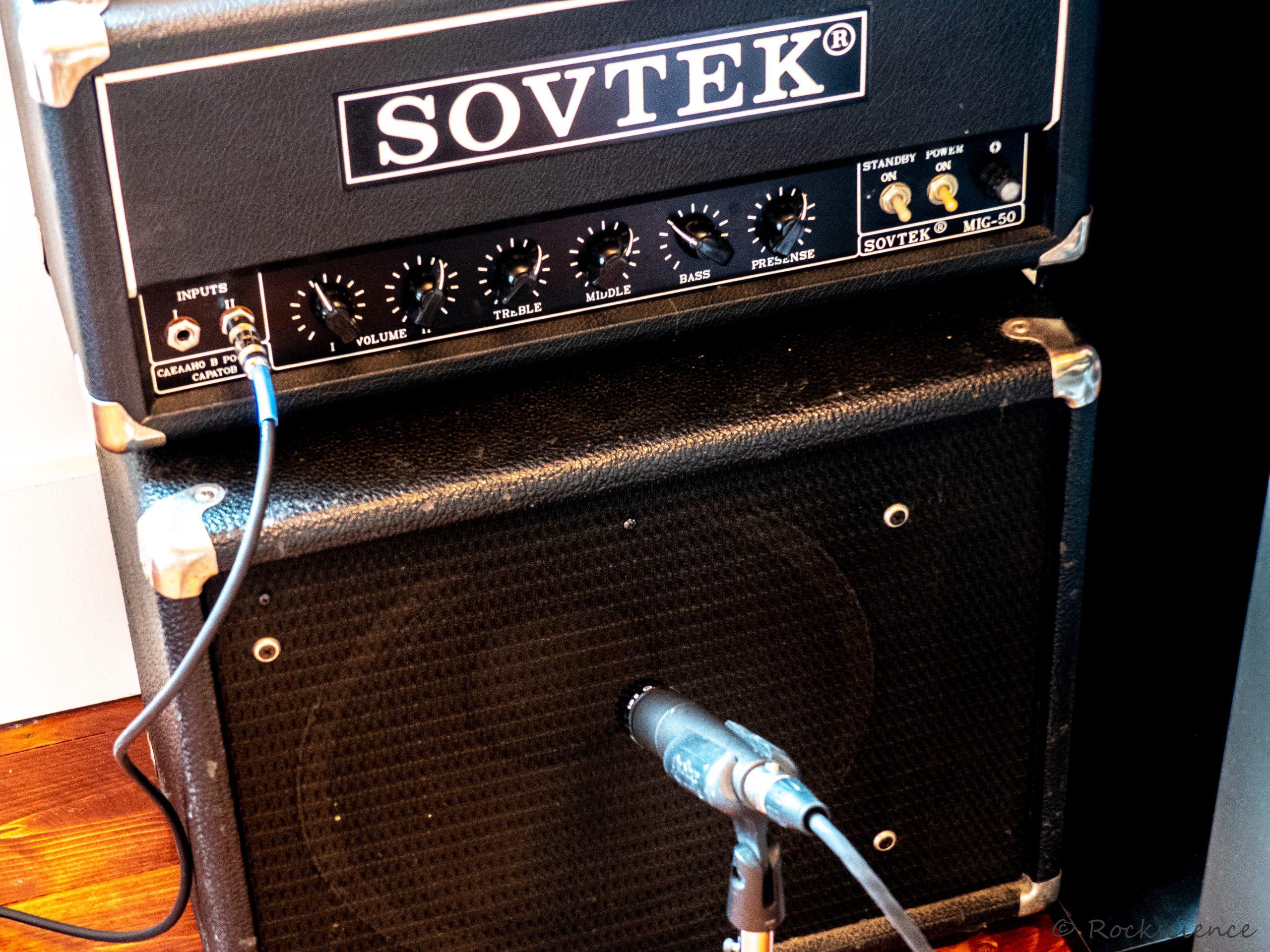 fine russian amplifier no. 1. sovtek mig-50 head and mesa-boogie cab