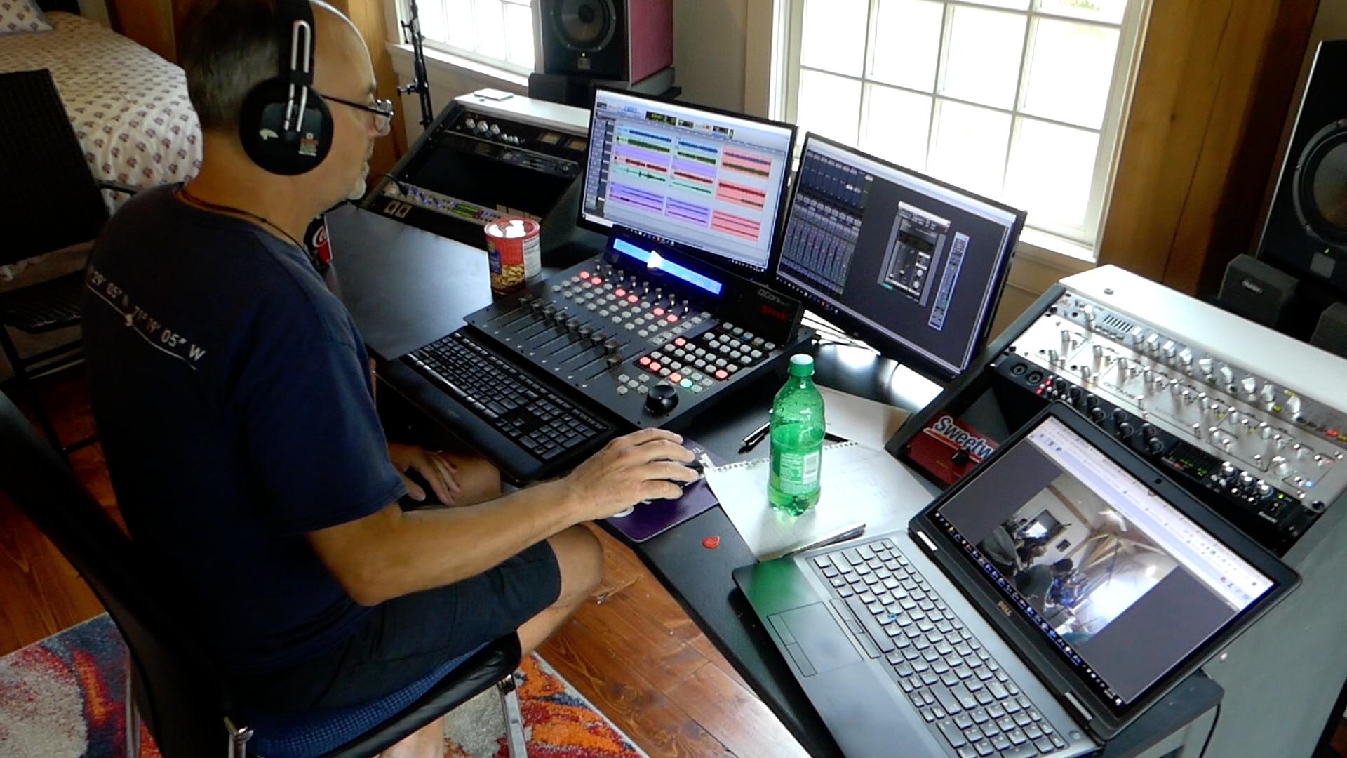bob damiano in session recording irish session band