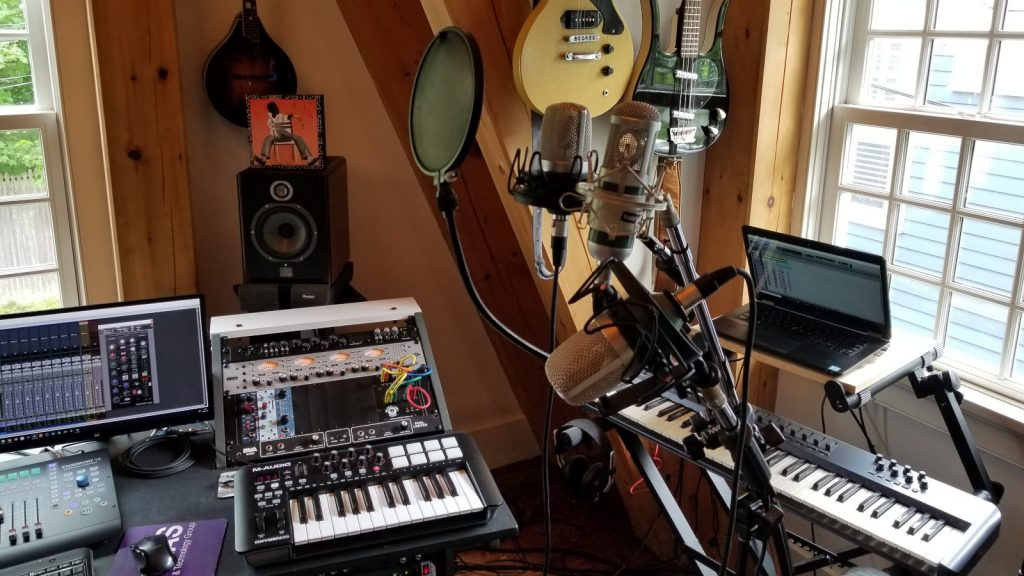 multi mic setup for background vocal session